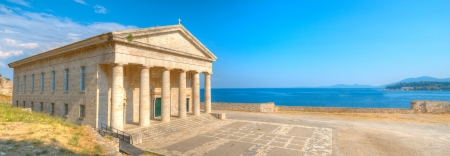 Panoramic view of Saint George Church, Old Corfu