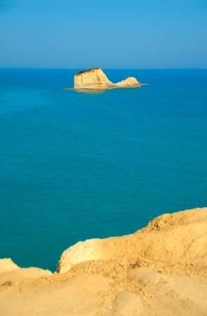 Beautiful view of sea with rock at Canal d Amore, Sidari