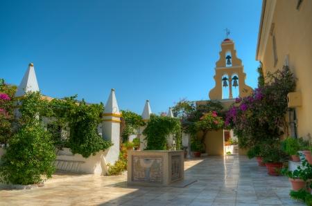 The monastery of Virgin Mary, Paleokastritsa Corfu Greece
