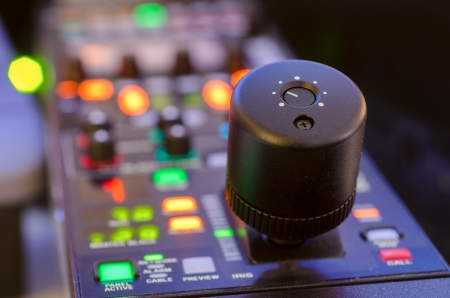 Remote Video camera mixer  short depth of field  Stock Photo