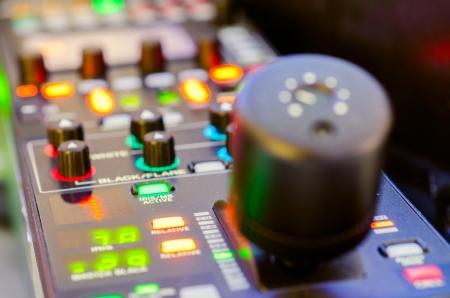 Close up of remote camera control