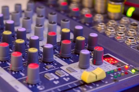 Digital sound mixer  close up  Stock Photo