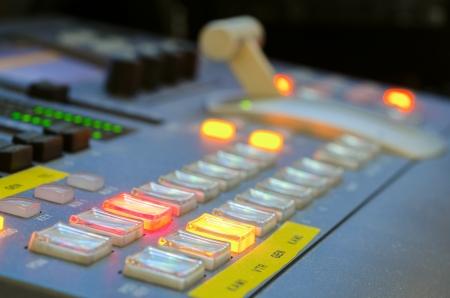 Professional video mixer  close up  Stock Photo