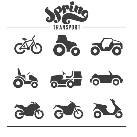 Simple set of auto related vector icons for your design Vectores