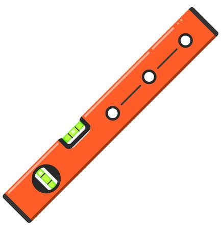 Orange waterpas bubble level tool flat style