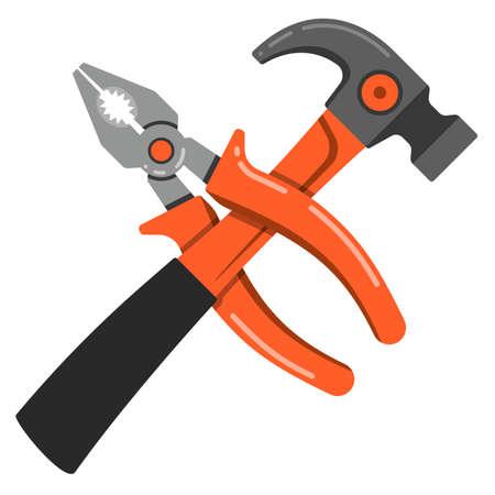 Plier outline vector icon thin icon flat Vetores