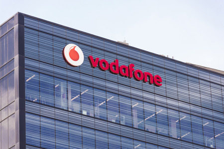 Barcelona, Spain - June 13, 2014: Vodafone Headquarters in Barcelona located in the 22 @ district of Barcelona Editorial
