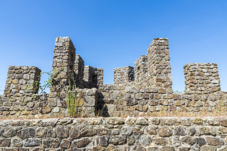 interventions: Castle of Montemor o Novo, Alentejo, Portugal. Built in the thirteenth century, the castle was subjected to interventions until the sixteenth century Stock Photo