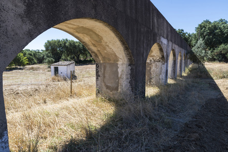stone arches: water channel high stone arches in the area of Alentejo, Portugal