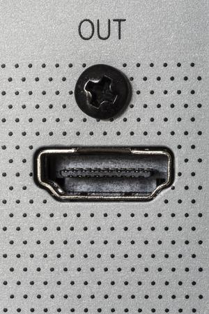 hdmi: Closeup of HDMI output