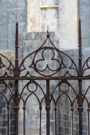bannister: Detail of a fence Gothic style in Girona, Catalonia, Spain