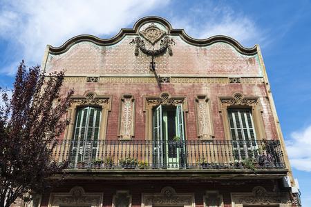 modernist: Modernist style House 1904 in Barcelona, Catalonia, Spain