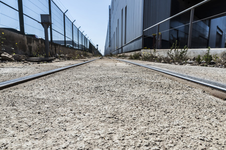 industrial park: Ferrovie in un parco industriale di Barcellona, ??Catalogna, Spagna