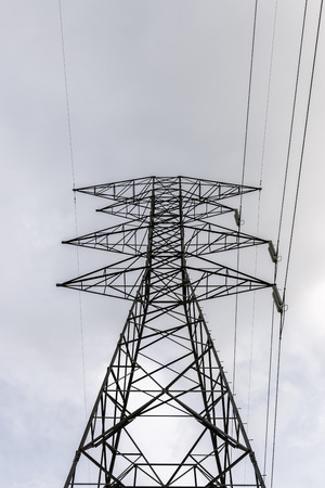 electromagnetism: Silhouette of a tower Power Line