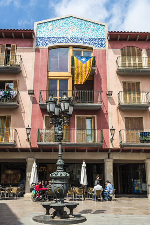 the place is important: Tarragona, Spain - April 20, 2014: City council of Cambrils, an important town on the Costa Daurada. In this place people drink in a terrace Editorial