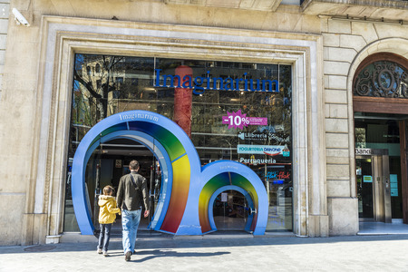 imaginarium: Barcelona, Spain - March 27, 2015: Imaginarium shop located on Passeig de Gracia, one of the most expensive streets in Europe. Editorial