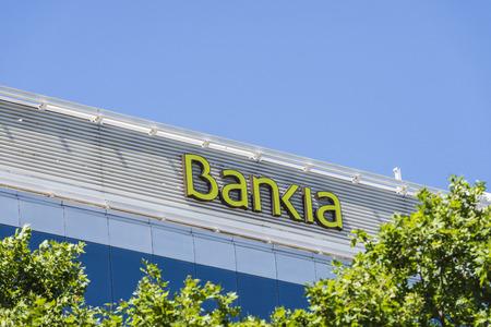 Barcelona, Spain - May 21, 2015: Bankia office on Avenida Diagonal