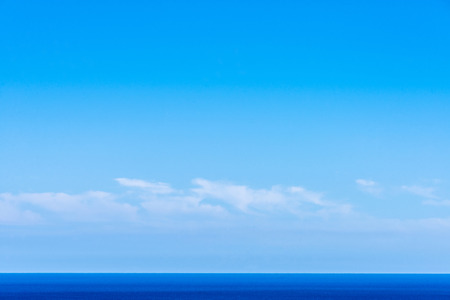 straight lines: Landscape of sea and sky forming straight lines Stock Photo