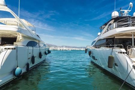 sailing yacht: Puerto Banus, a marina near Marbella in Costa del Sol, Andalusia, Spain