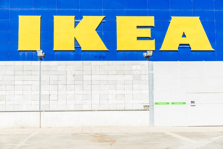 retailer: Barcelona, Spain - October 10, 2015: Ikea store located just outside Barcelona. Founded in Sweden in 1943, Ikea now is the worlds largest furniture retailer.