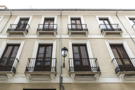 Facade of a building in the old town of Granada, Andalusia, Spain.