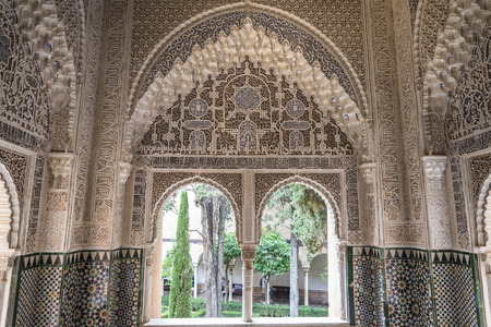 Fortress and palace of the Alhambra in Granada, Andalusia, Spain. Editorial