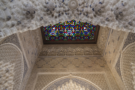 the  alhambra: Fortress and palace of the Alhambra in Granada, Andalusia, Spain. Editorial