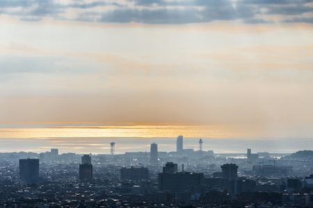 Panoramic views of Barcelona at sunrise, Catalonia, Spain Stock fotó