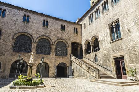 gothic heart: Arquebisbat House, in the heart of Barri Gotic (gothic quarter) in Barcelona, Catalonia, Spain