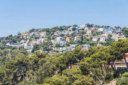 Urbanisierung von Luxus-Haus an der Mittelmeerküste in Costa Brava, Katalonien, Spanien Standard-Bild