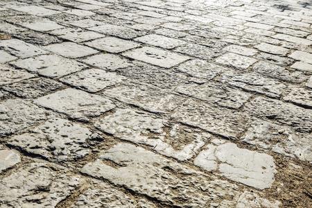 empedrado: Piedra carretera asfaltada como fondo