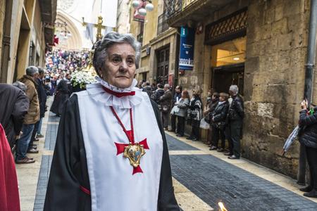 Tarragona, Spain - March 25, 2016: Easter Week, Holy Week or Semana Santa, Nazarene processions, bands of music, religious celebrations of international interest.