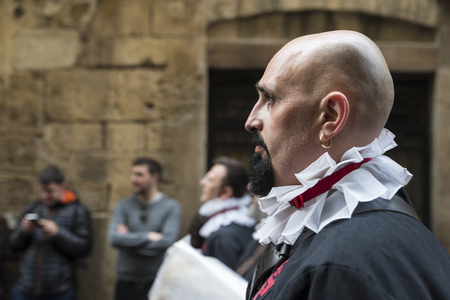 semana: Tarragona, Spain - March 25, 2016: Easter Week, Holy Week or Semana Santa, Nazarene processions, bands of music, religious celebrations of international interest.