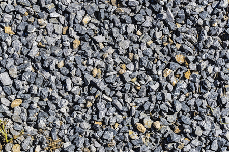 macadam: Texture of crushed gravel as background Stock Photo