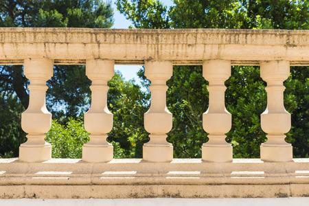 balustrade: Classical stone balustrade in a garden