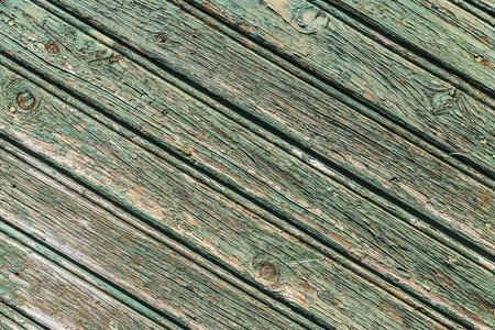 green door: Closeup of an old wooden green door as background Stock Photo