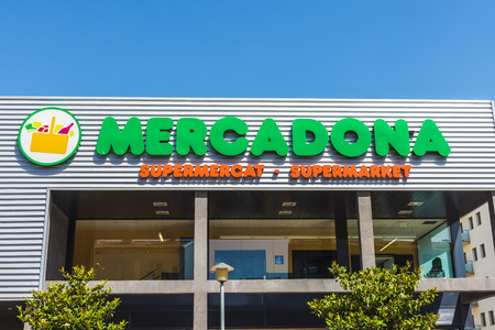 Girona, Spain - July 8, 2016: : Mercadona supermarket. This supermarket chain is sales leader in Spain
