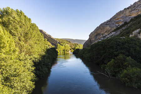 ebro: Ebro river through a valley in Cantabria, Spain