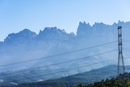 electrical tower: Electrical tower in the mountains in Spain
