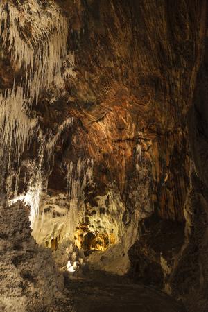 disuse: Stalactites and stalagmites inside a salt or potash mine in Cardona, Catalonia, Spain Stock Photo