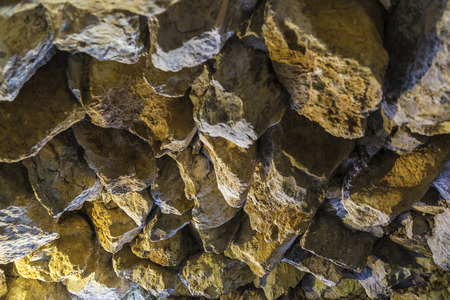 'rock drill': Stone roof of a cave as background Stock Photo