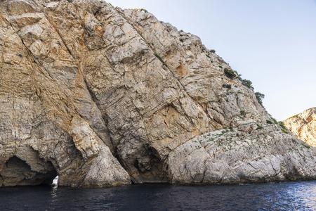 Rocky coast at the Costa Brava, Girona, Catalonia, Spain Stock Photo