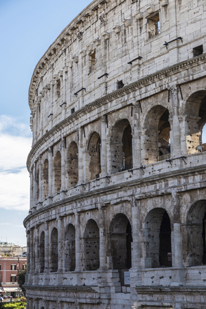 View of coliseum of Rome, Italy Stock Photo