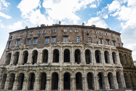 Marcello Theater, it was the first theater of stone in Rome, Italy