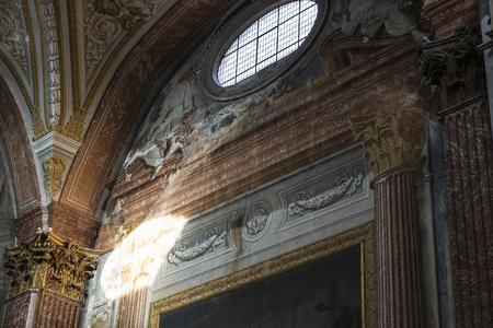 angeli: Rome, Italy - January 3, 2017: Interior of basilica of St. Mary of the Angels and the Martyrs (Santa Maria degli Angeli e dei Martiri) in Rome, Italy Editorial