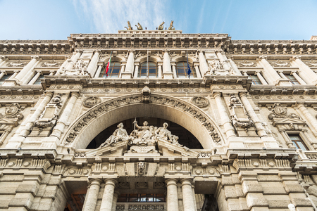 Palace of Justice (Corte di Cassazione) of Neobaroque style in Rome, Italy