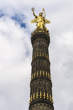 danish: Top of the Victory Column (Siegessaule) in Berlin, Germany. It is a monument to commemorate the Prussian victory in the Danish-Prussian War in Berlin, Germany.