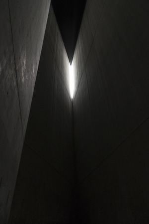 jewish: Berlin, Germany - April 14, 2017: Inside the Holocaust Tower in the Jewish Museum in Berlin, Germany