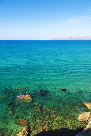 Rocky coast in summer in Castellammare del Golfo in Sicily, Italy