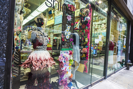 New York City, USA - July 25, 2018: Clothing store called Shine on a street in Manhattan in New York City, USA